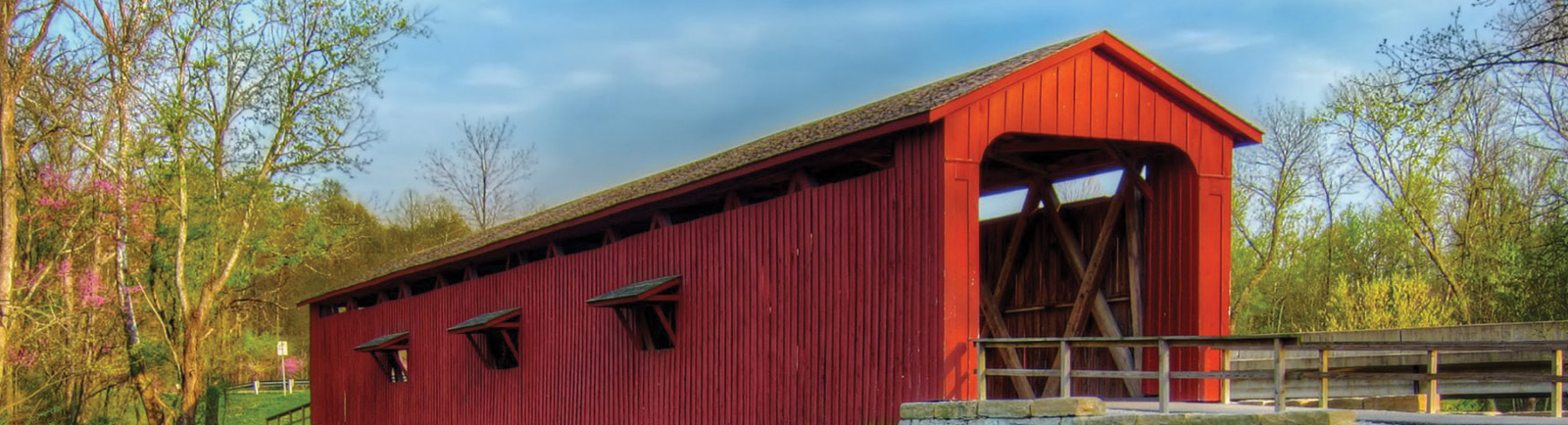 Covered Bridge in Owen County, Indiana